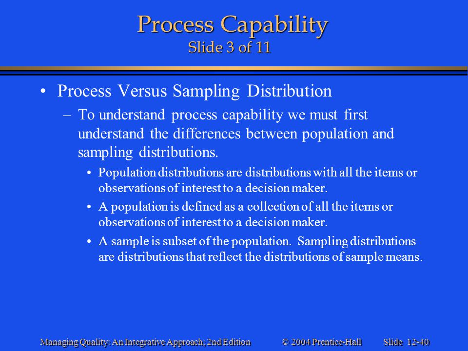 Process Capability Slide 3 of 11