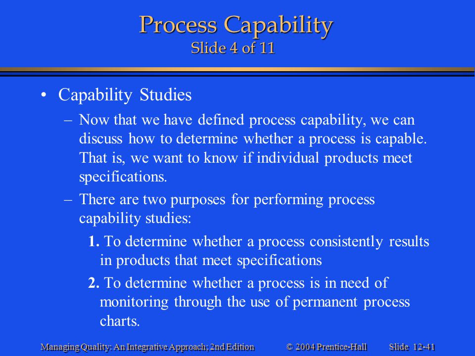 Process Capability Slide 4 of 11
