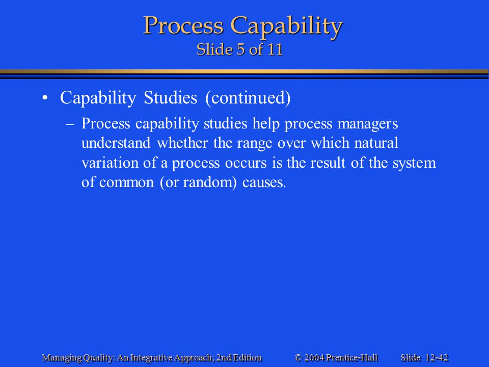 Process Capability Slide 5 of 11