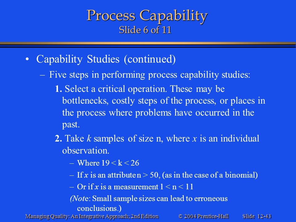 Process Capability Slide 6 of 11