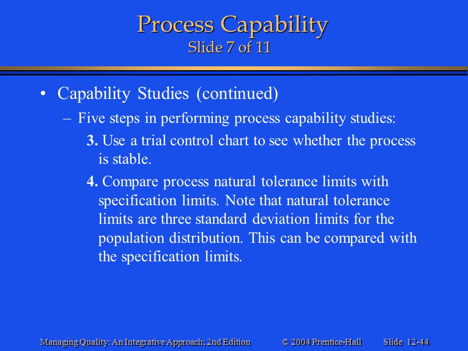 Process Capability Slide 7 of 11