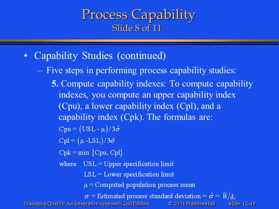 Process Capability Slide 8 of 11