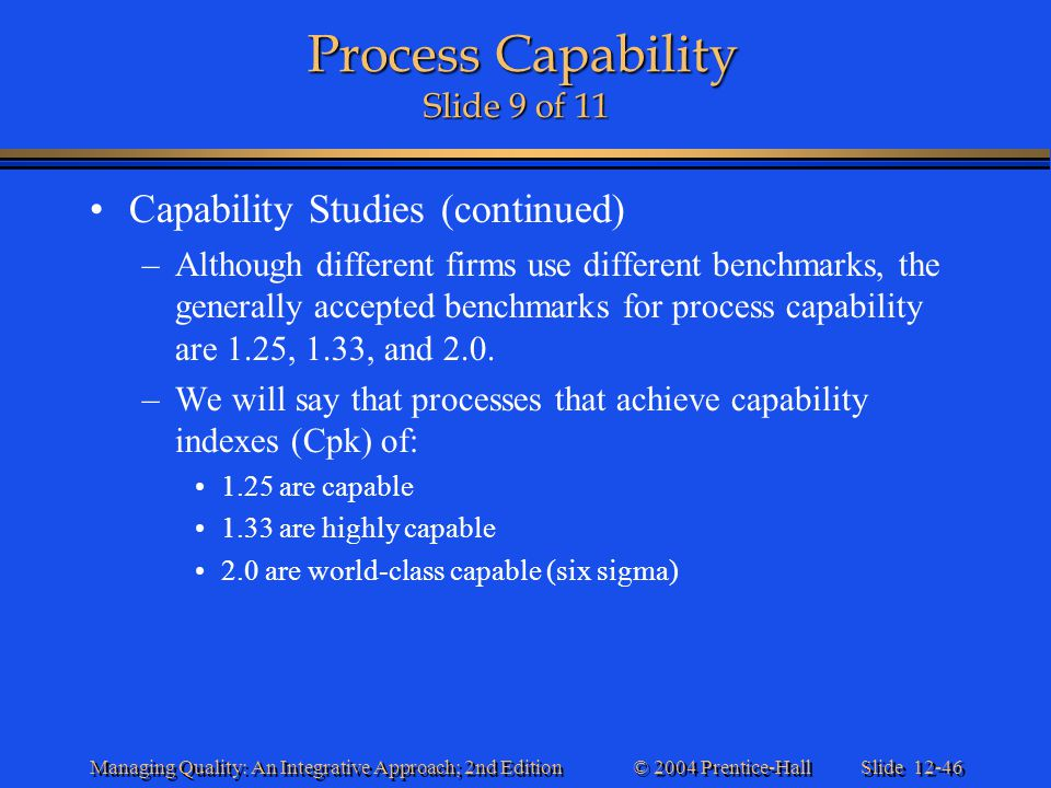 Process Capability Slide 9 of 11
