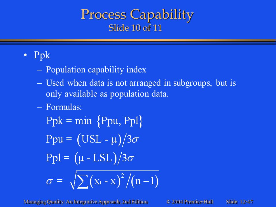 Process Capability Slide 10 of 11