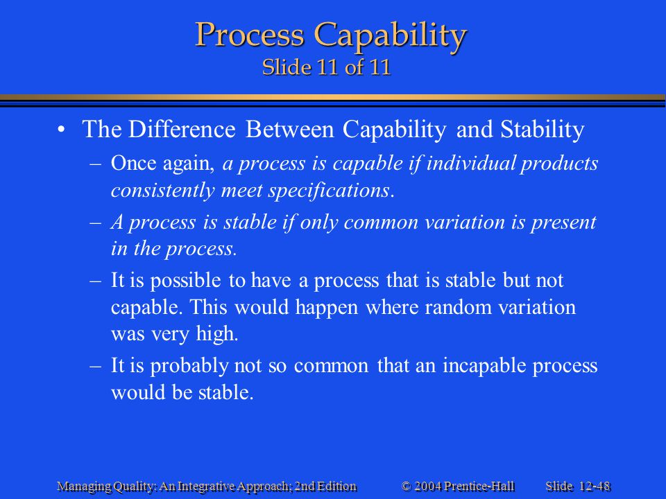 Process Capability Slide 11 of 11