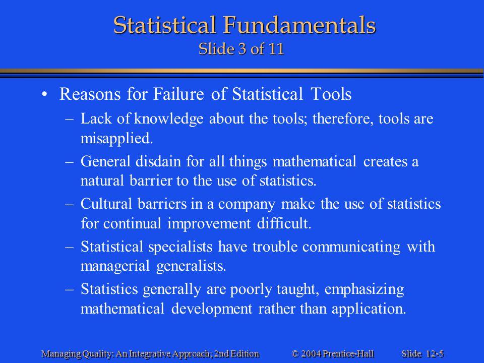 Statistical Fundamentals Slide 3 of 11