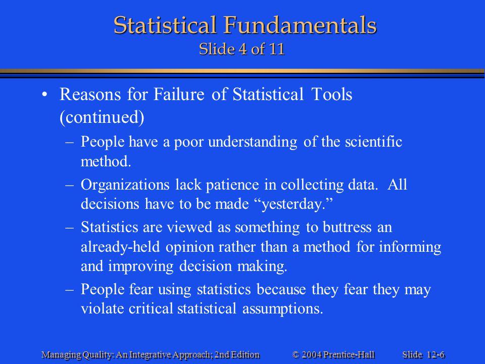Statistical Fundamentals Slide 4 of 11