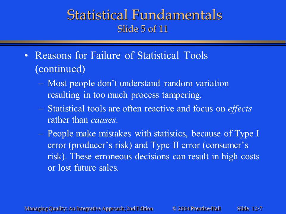 Statistical Fundamentals Slide 5 of 11