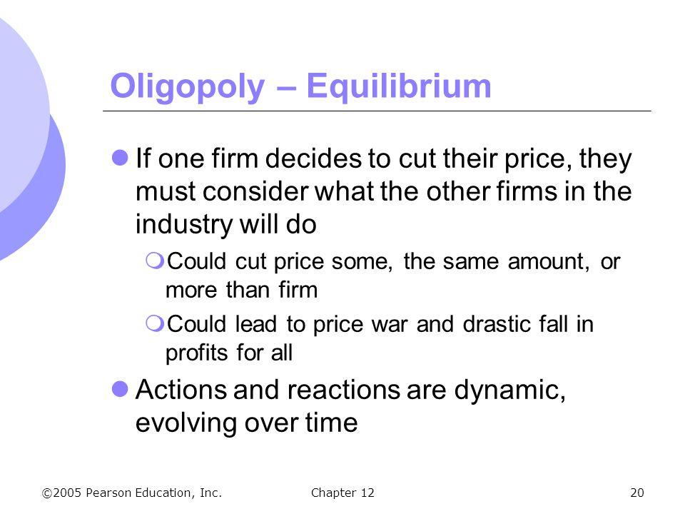 Oligopoly – Equilibrium