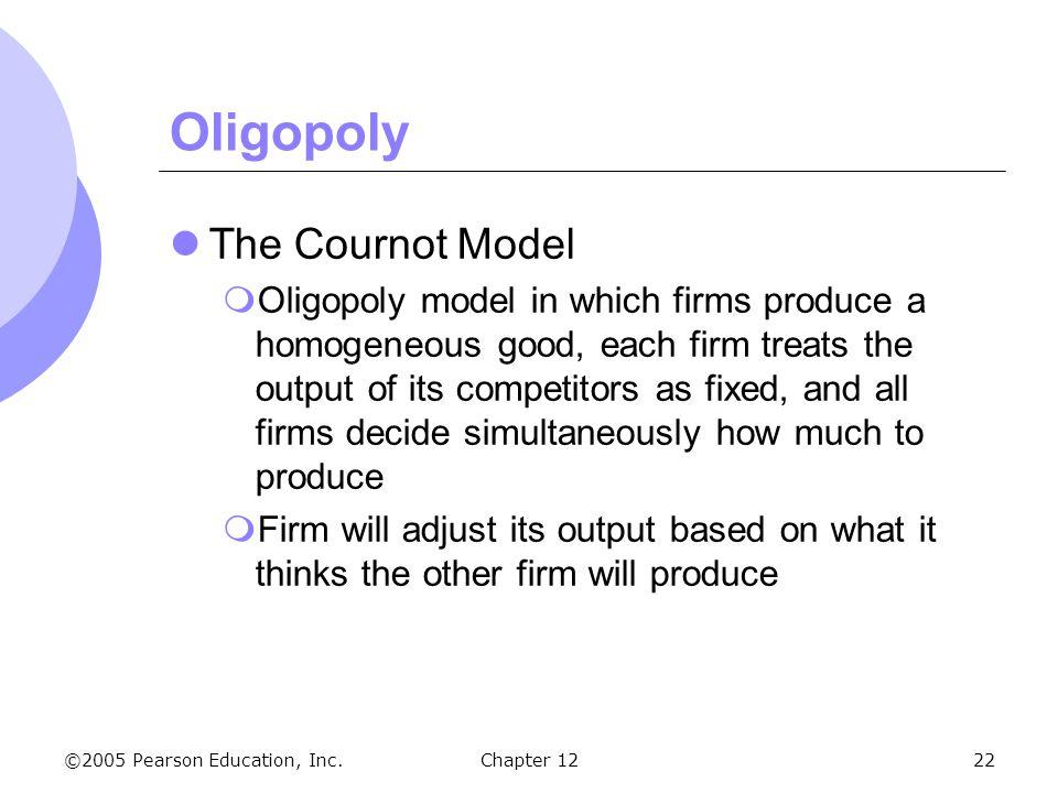 Oligopoly The Cournot Model