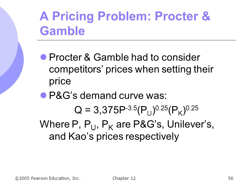 A Pricing Problem: Procter & Gamble