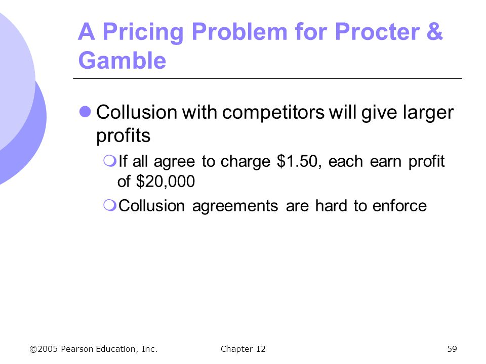 A Pricing Problem for Procter & Gamble