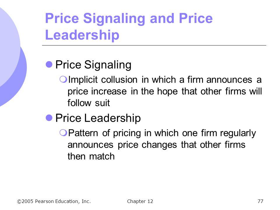 Price Signaling and Price Leadership