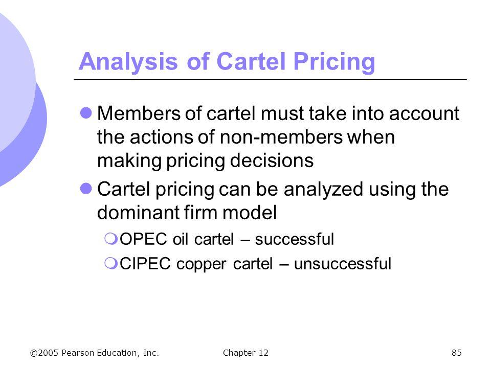 Analysis of Cartel Pricing