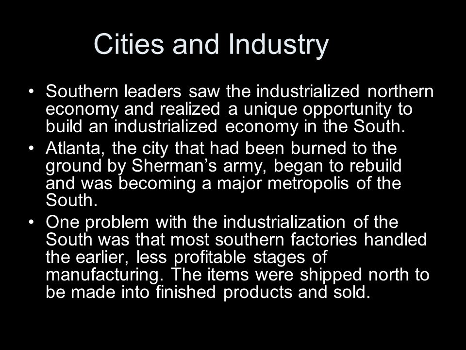 Cities and Industry