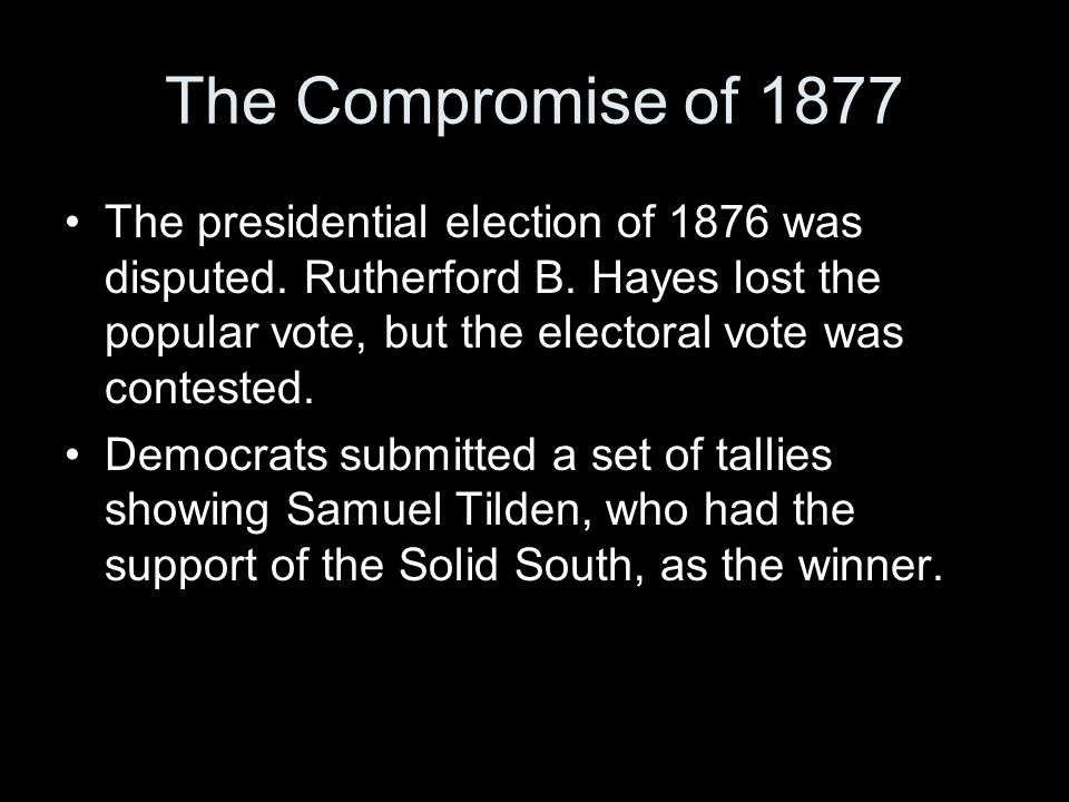 The Compromise of 1877