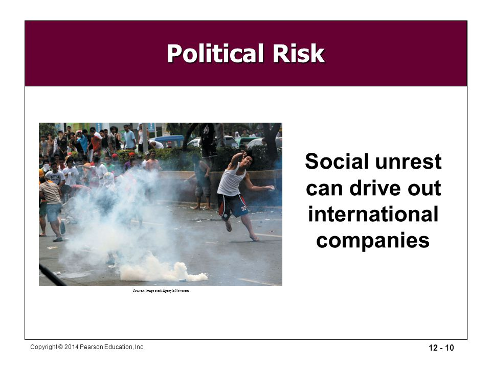 Social unrest can drive out international companies