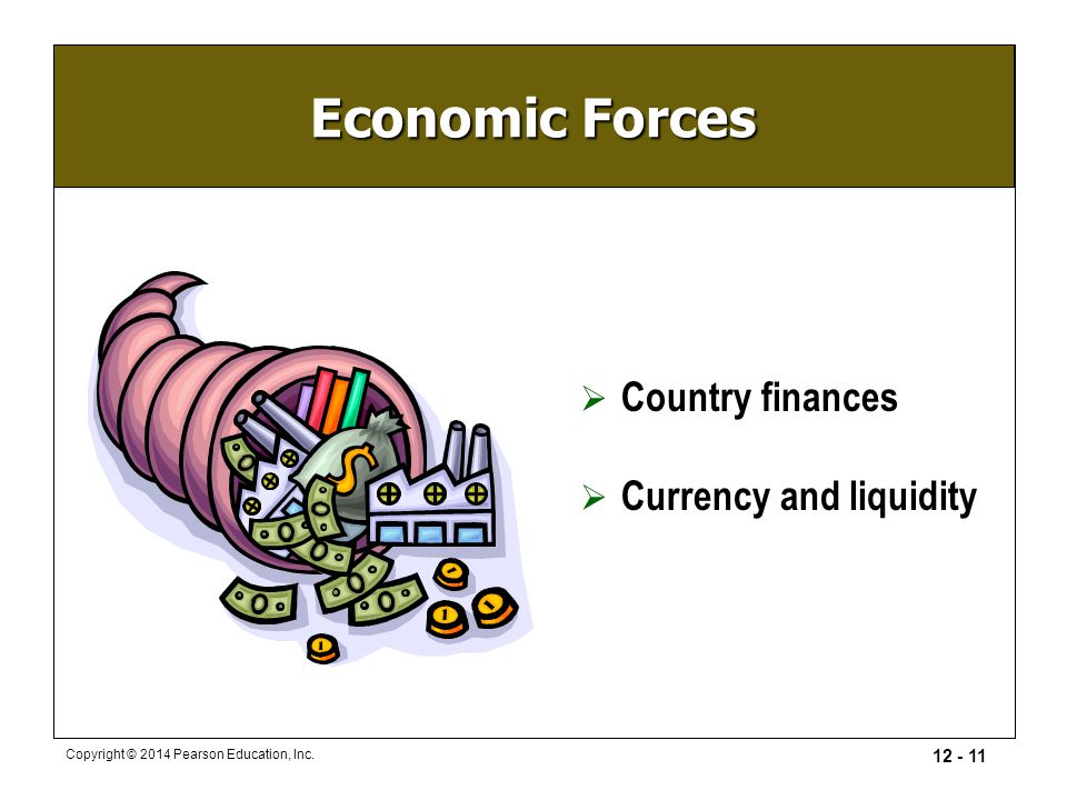 Economic Forces Country finances Currency and liquidity
