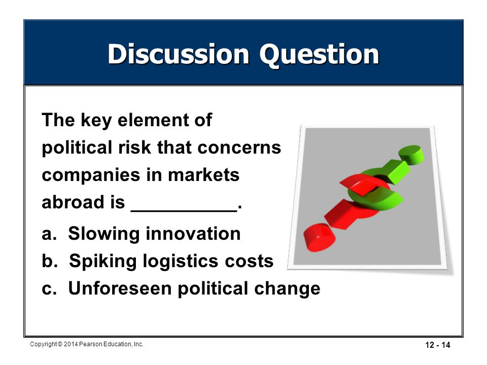 Discussion Question The key element of political risk that concerns