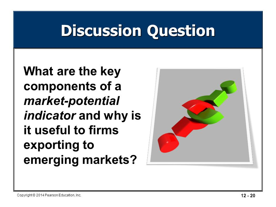 Discussion Question What are the key components of a market-potential indicator and why is it useful to firms exporting to emerging markets