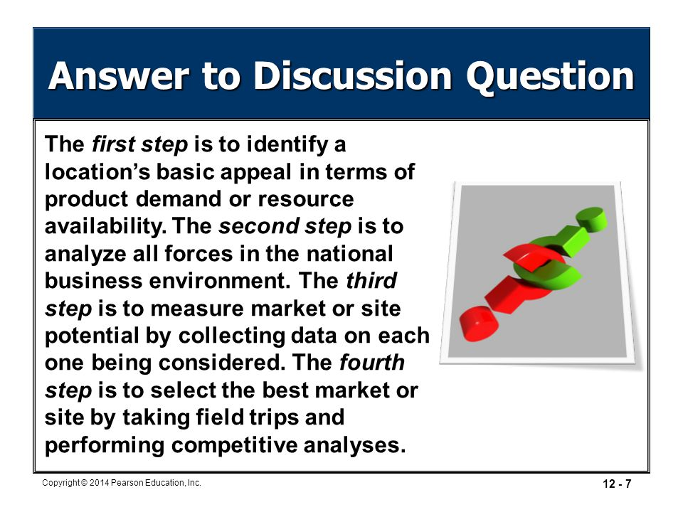 Answer to Discussion Question
