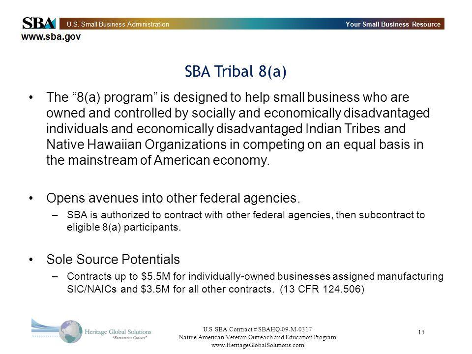 SBA Tribal 8(a)