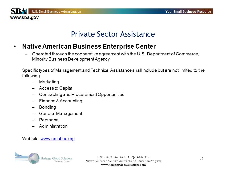 Private Sector Assistance