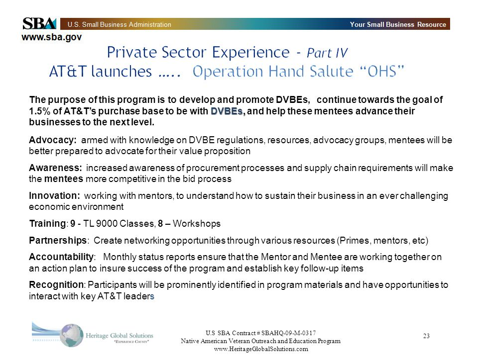 Private Sector Experience - Part IV AT&T launches …
