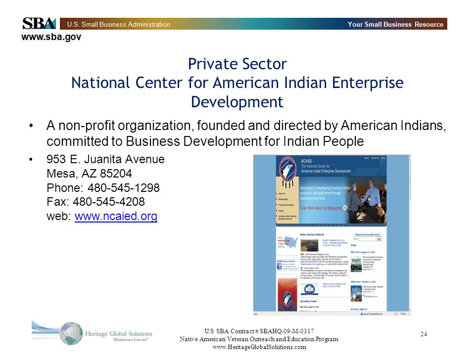 Private Sector National Center for American Indian Enterprise Development