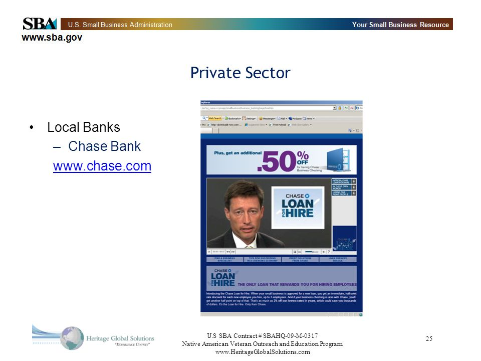 Private Sector Local Banks Chase Bank www.chase.com