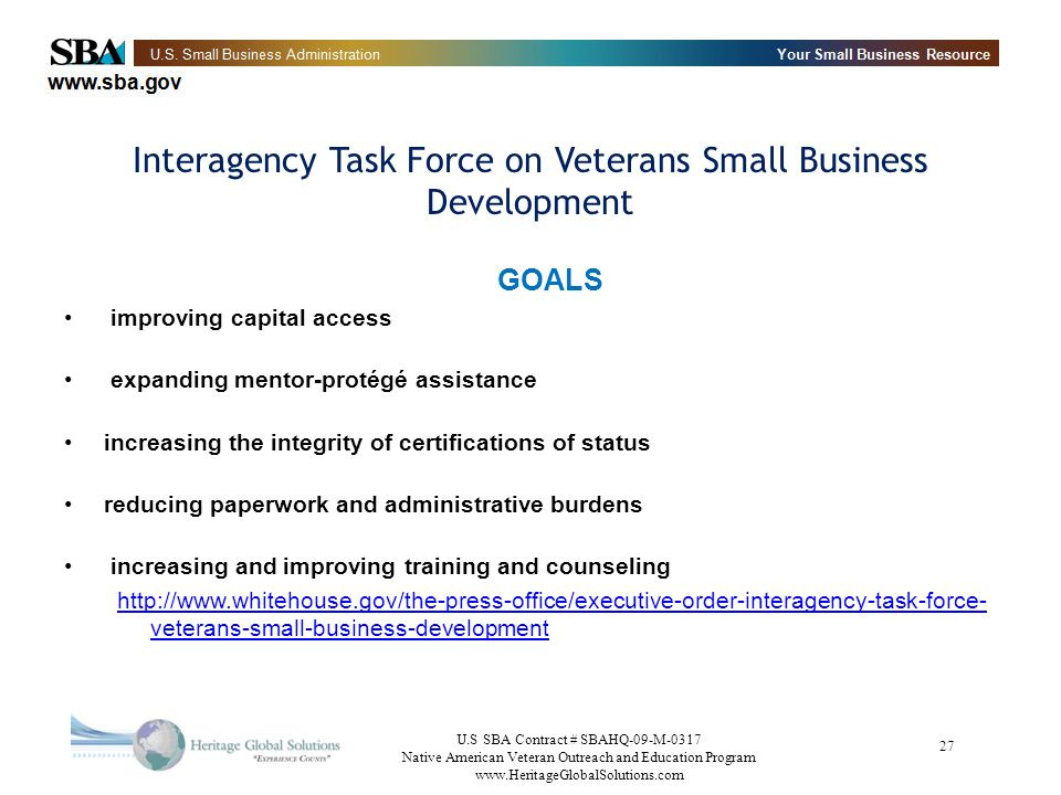 Interagency Task Force on Veterans Small Business Development