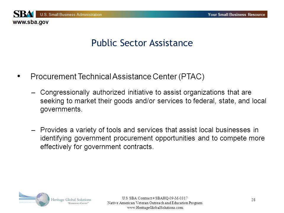 Public Sector Assistance