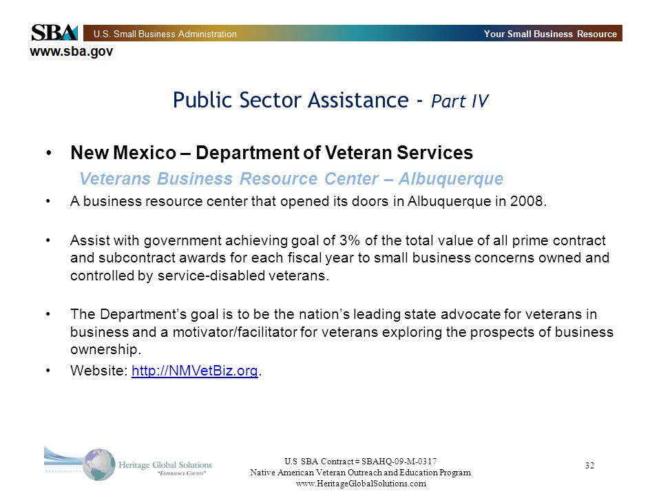 Public Sector Assistance - Part IV