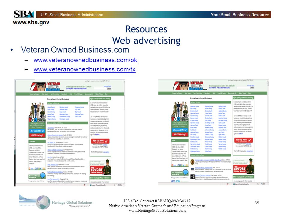 Resources Web advertising