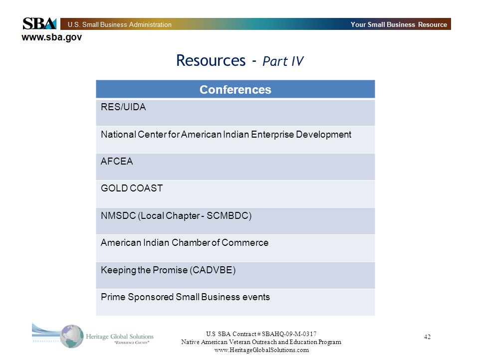 Resources - Part IV Conferences RES/UIDA