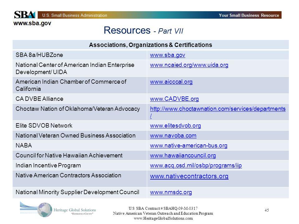 Associations, Organizations & Certifications
