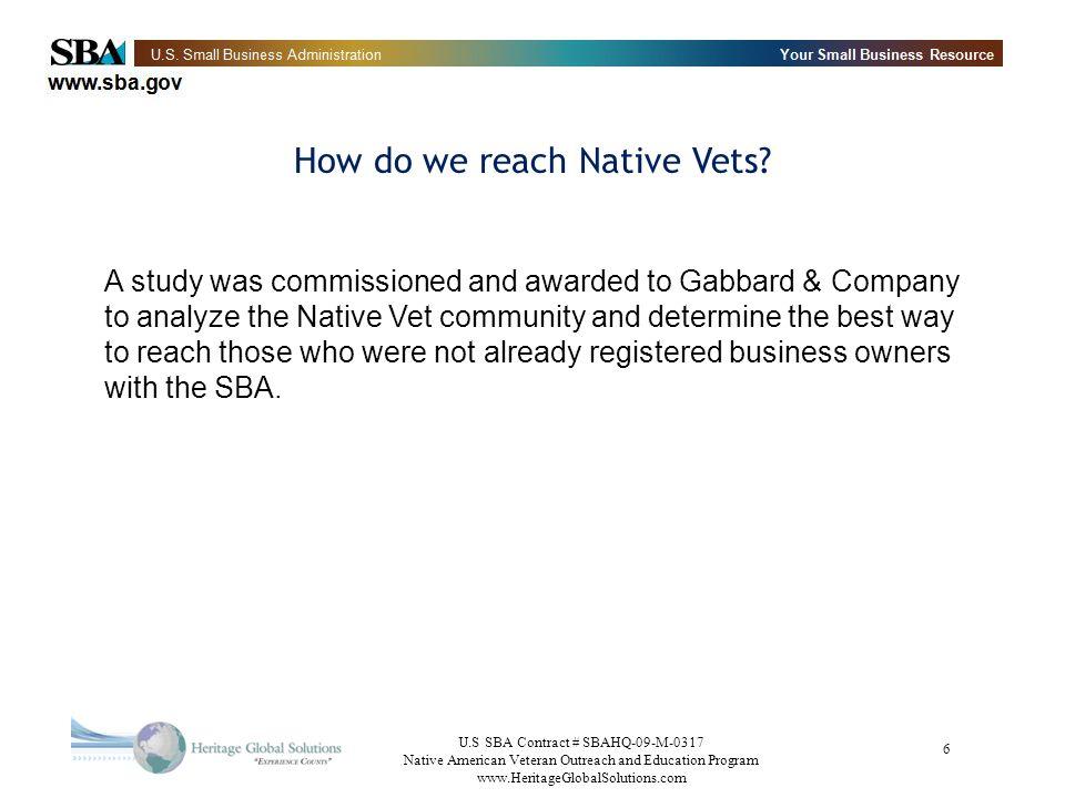 How do we reach Native Vets