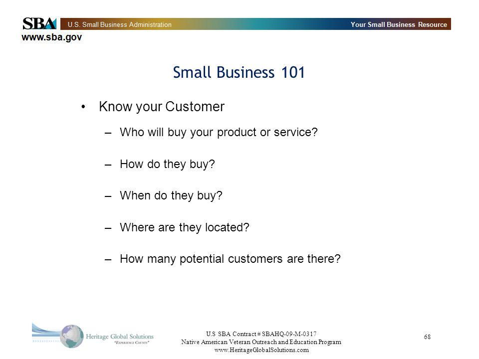 Small Business 101 Know your Customer