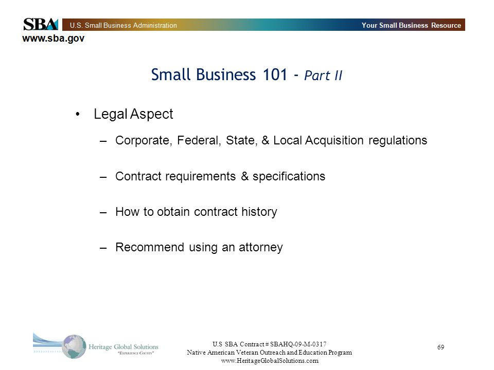 Small Business 101 - Part II