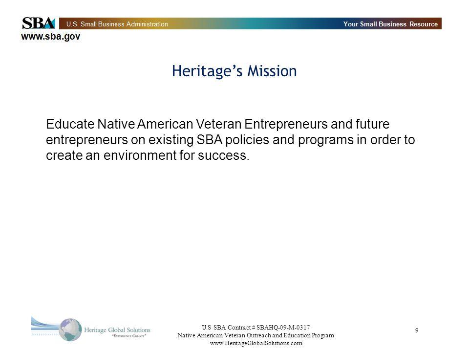 Heritage's Mission