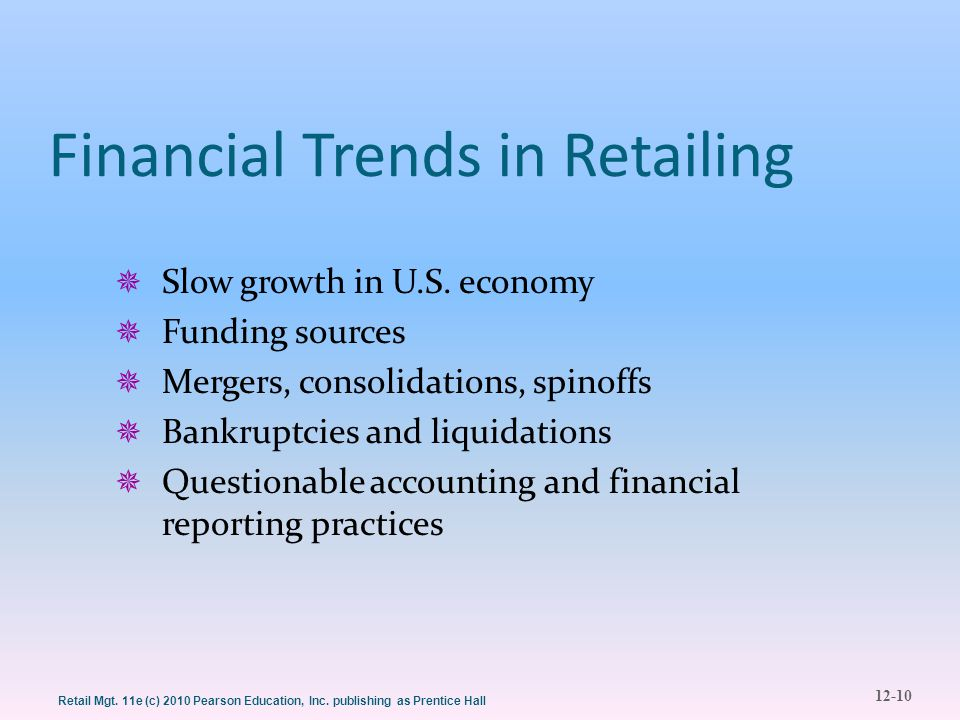 Financial Trends in Retailing