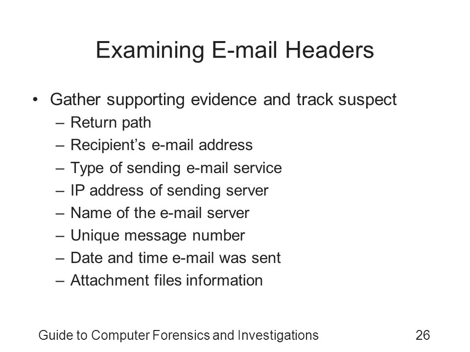 Examining E-mail Headers