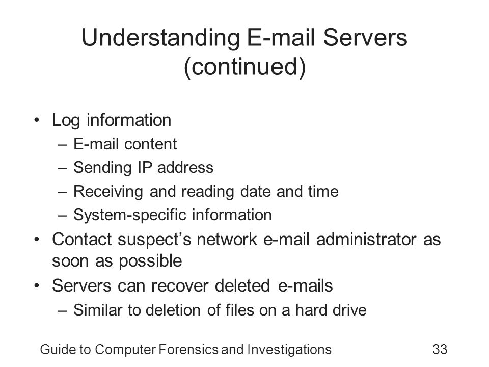Understanding E-mail Servers (continued)