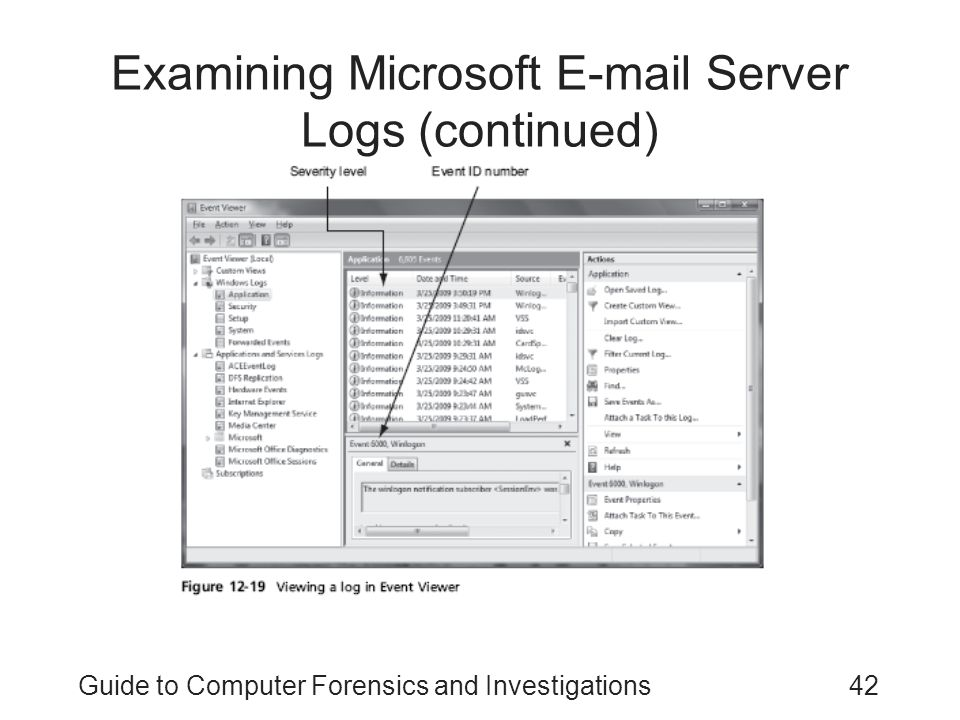 Examining Microsoft E-mail Server Logs (continued)