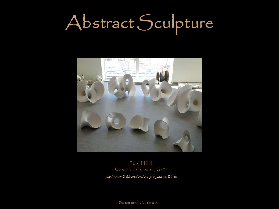 Abstract Sculpture Eva Hild Swedish Stoneware, 2002