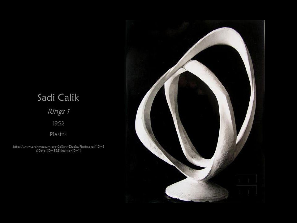 Sadi Calik Rings 1 1952 Plaster