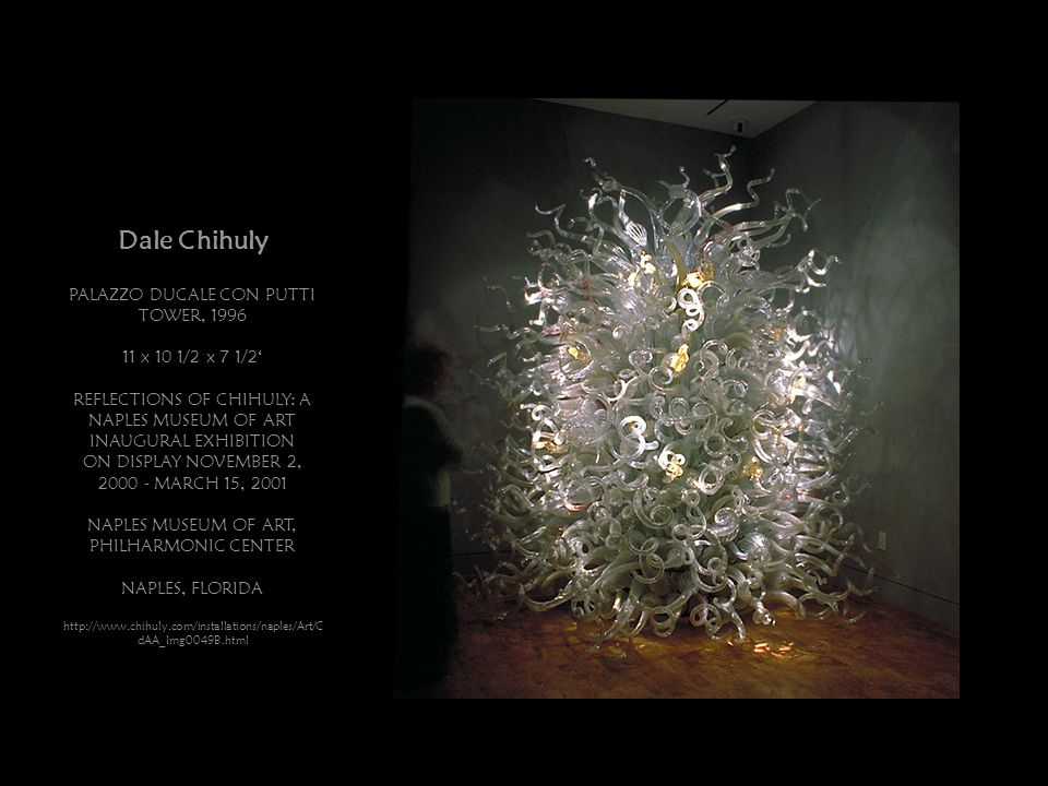 Dale Chihuly PALAZZO DUCALE CON PUTTI TOWER, 1996 11 x 10 1/2 x 7 1/2'