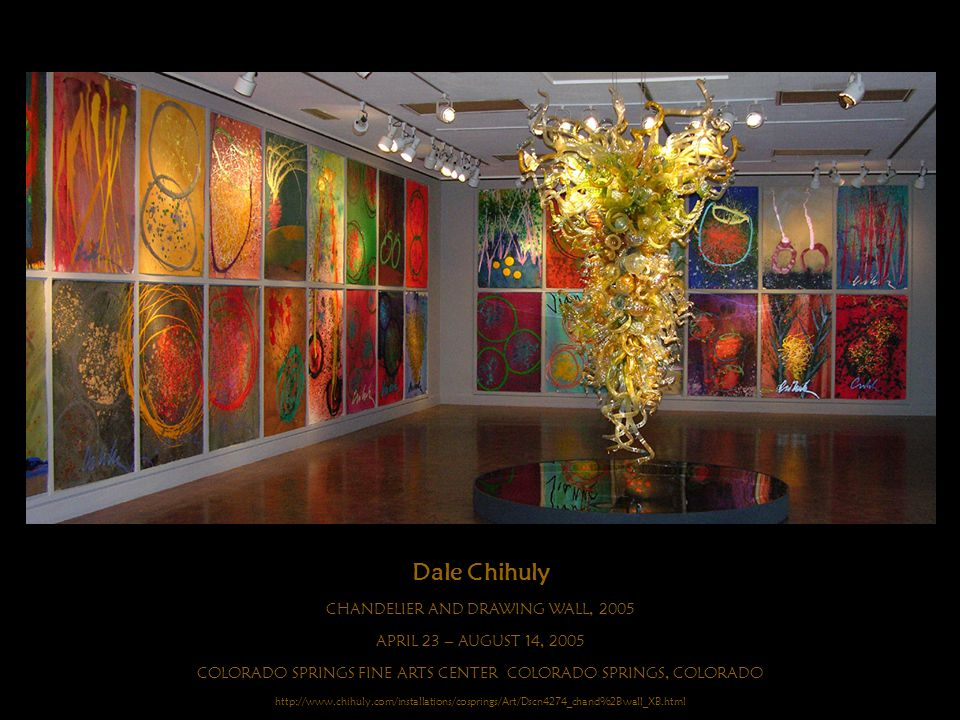 Dale Chihuly CHANDELIER AND DRAWING WALL, 2005