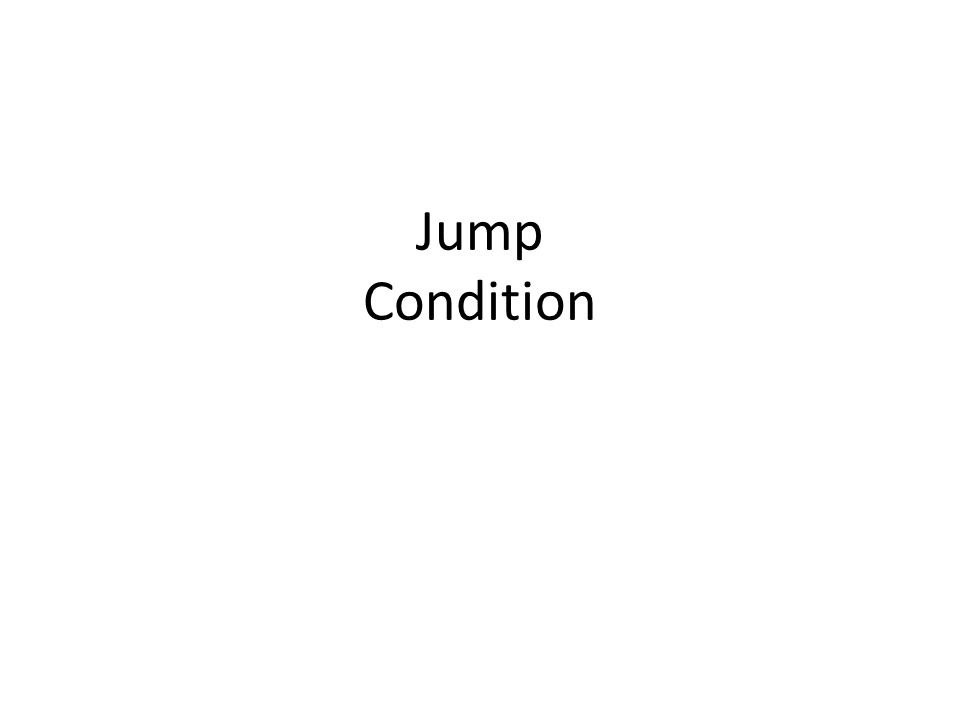 Jump Condition