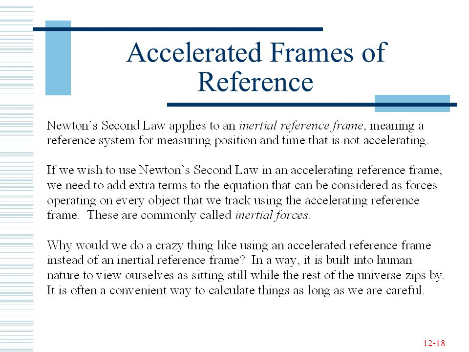 Accelerated Frames of Reference